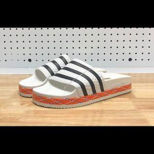 3abf9c6ba74b adidas Shoes - New Women s Adidas ADILETTE BOLD White Slides 8